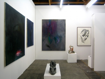 Cruise & Callas at Art Brussels, 2013. Works by Frauke Boggasch, Stefan Rinck, Chris Hammerlein and Sibylla Dumke