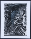 <p>H.R. Giger</p><p><br />Expanded Drawing Nr. 40, 1988<br />Wax, oil, wax pastell, litho chalk, pen on photocopy<br />42 x 29,7 cm</p>