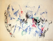 Bernard Schultze<br /><br />Untitled, 1954<br />Watercolor on paper<br />48 x 63 cm