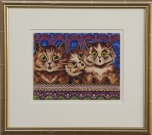 <p>Louis Wain</p><p><br />They sang with sweetness, ca. 1934<br />Gouache on paper, framed<br />35,5 x 39,5 cm</p>